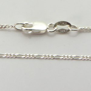 Silver 3+1 Figaro Chains 035 Gauge - 1.4mm wide