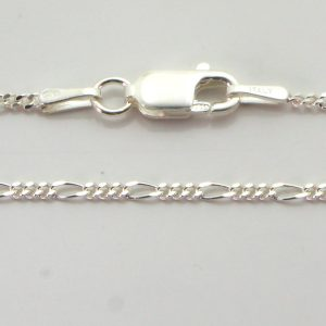 Silver 3+1 Figaro Chains 040 Gauge - 1.5mm wide