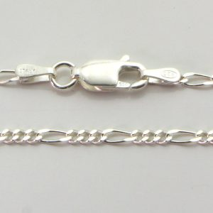 Silver 3+1 Figaro Chains 050 Gauge - 1.7mm wide