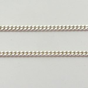 Silver Curb Chains 050 Gauge - 1.7mm Wide