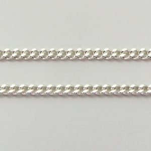 Silver Curb Chains 060 Gauge - 2.1mm Wide