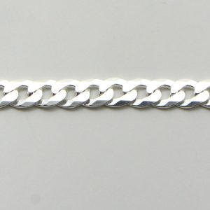 Silver Curb Chains 100 Gauge - 4.2mm Wide (Extra Flat)