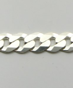 Silver Curb Chains 160 Gauge - 6.8mm Wide (Extra Flat)