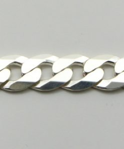 Silver Curb Chains 180 Gauge - 7.6mm Wide (Extra Flat)