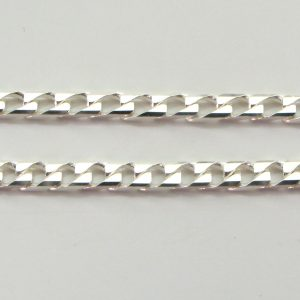Silver Curb Chains 100 Gauge - 2.7mm Wide (Square)