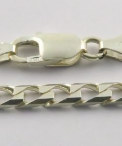 Silver Curb Chains 180 Gauge - 4.9mm Wide (Square)