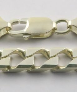 Silver Curb Chains 250 Gauge - 6.8mm Wide (Square)