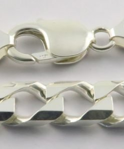 Silver Curb Chains 300 Gauge - 7.1mm Wide (Square)