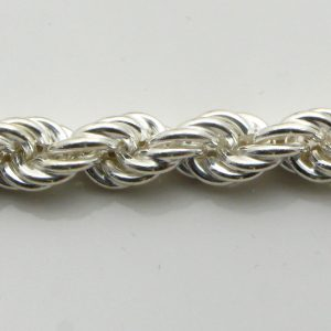 Silver Rope Chains 120 Gauge - 6.2mm Wide (Hollow)