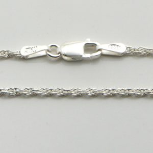 Silver Rope Chains 030 Gauge - 1.6mm Wide (Loose)