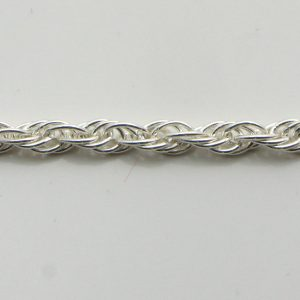 Silver Rope Chains 050 Gauge - 2.7mm Wide (Loose)