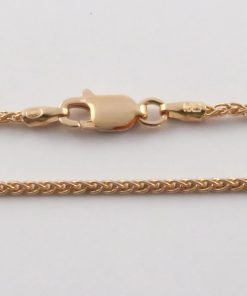 Silver Wheat Cains 035 Gauge - 1.5mm Wide (Rose Gold Plated)
