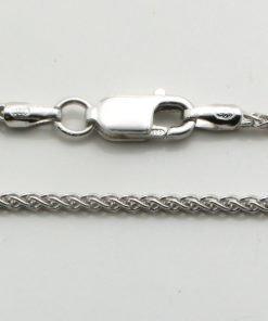 Silver Wheat Chains 035 Gauge - 1.5mm Wide (Rhodium Plated)