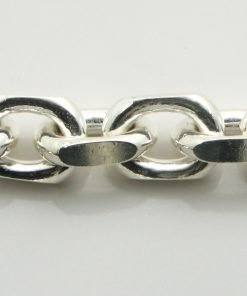 Silver Anchor Chains 300 Gauge - 9mm Wide (Square)