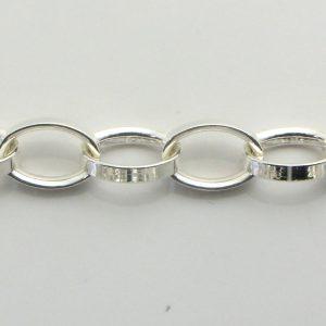 Silver Rolo Chains 090 Gauge - 6.5mm Wide (Tondo Mezzo)