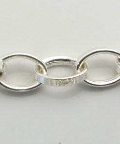 Silver Rolo Chains 110 Gauge - 8mm Wide (Tondo Mezzo)