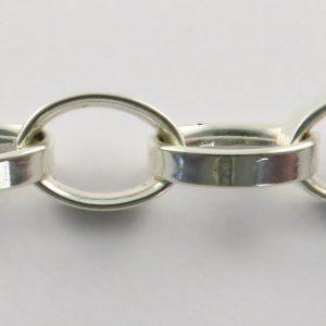 Silver Rolo Chains 150 Gauge - 10.6mm Wide (Tondo Mezzo)