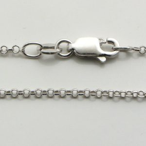 Silver Rolo Chains 020 Gauge - 1.6mm Wide (Tondo)