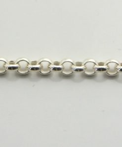 Silver Rolo Chains 055 Gauge - 3.2mm Wide (Tondo)