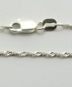 Silver Singapore Chains 025 Gauge - 1.4mm Wide