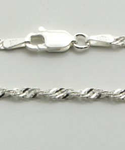 Silver Singapore Chains 035 Gauge - 2.1mm Wide