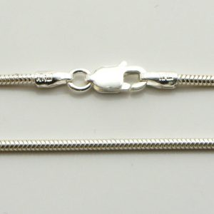 Silver Snake Chains 140 Gauge - 1.4mm Wide (Real)