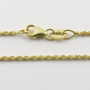 9ct Yellow Gold Rope Chains 026 Gauge - 1.36mm Wide