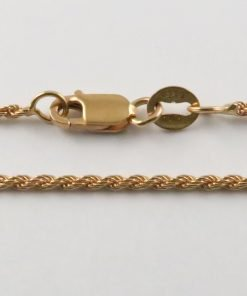 9ct Rose Gold Rope Chains 026 Gauge - 1.36mm Wide