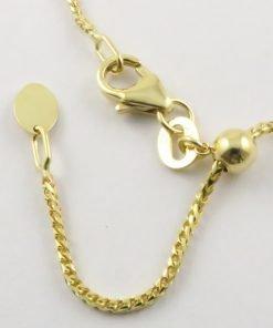 9ct Yellow Gold Franco Chains 035 Gauge - 1.1mm Wide slider adjuster