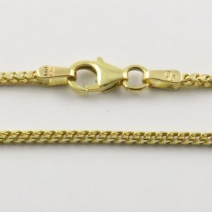 9ct Yellow Gold Franco Chains 050 Gauge - 1.5mm Wide