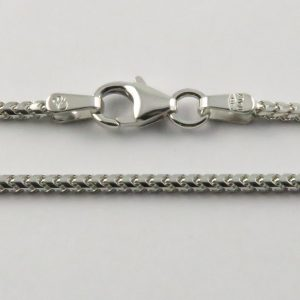 9ct White Gold Franco Chains 050 Gauge - 1.5mm Wide