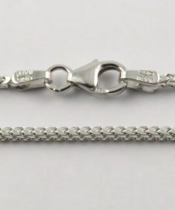 18ct White Gold Franco Chains 050 Gauge - 1.5mm Wide