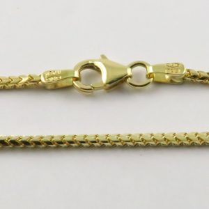 18ct Yellow Gold Franco Chains 050 Gauge - 1.5mm Wide