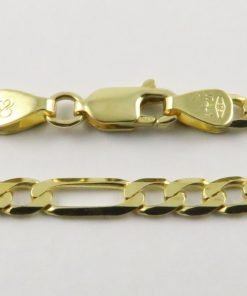 9ct Yellow Gold Figaro Chains 080 Gauge - 3.85mm Wide