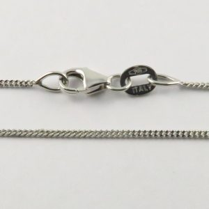 18ct White Gold Curb Chains 030 Gauge - 1.1mm wide
