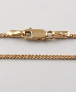 9ct Rose Gold Curb Chains 040 Gauge -1.4mm Wide