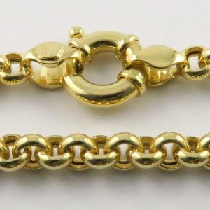 9ct Yellow Gold Belcher Chains - Hollow 006 Gauge - 5mm Wide