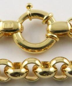 9ct Yellow Gold Belcher Chains - Hollow 038 Gauge - 7.8mm Wide