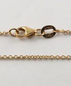 18ct Rose Gold Rolo Belcher Chains 030 Gauge - 1.3mm Wide