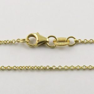 18ct Yellow Gold Rolo Belcher Chains 030 Gauge - 1.3mm Wide