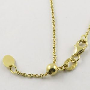 18ct Yellow Gold Rolo Belcher Chains 030 Gauge - 1.65mm Wide (Slider/Adjuster)