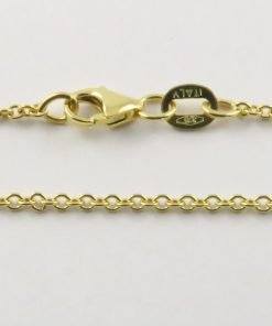 18ct Yellow Gold Rolo Belcher Chains 040 Gauge - 1.65mm Wide
