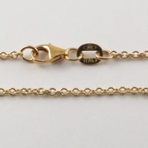 9ct Rose Gold Rolo Chains 040 Gauge - 1.65mm Wide