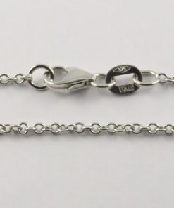 9ct White Gold Rolo Chains 040 Gauge - 1.65mm Wide