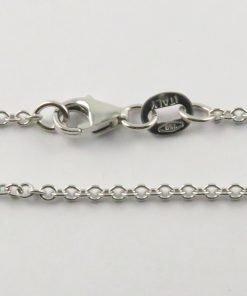 18ct White Gold Rolo Belcher Chains 040 Gauge - 1.65mm Wide