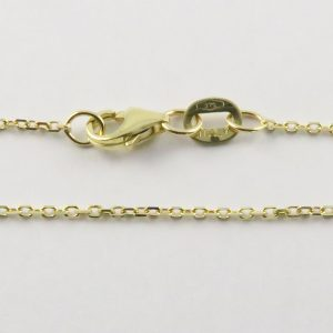 9ct Yellow Gold Anchor Chains 030 Gauge - 1.05mm Wide