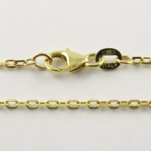 9ct Yellow Gold Anchor Chains 050 Gauge - 1.6mm Wide