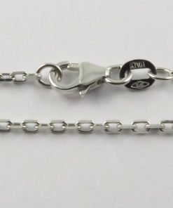 9ct White Gold Anchor Chains 050 Gauge - 1.6mm Wide