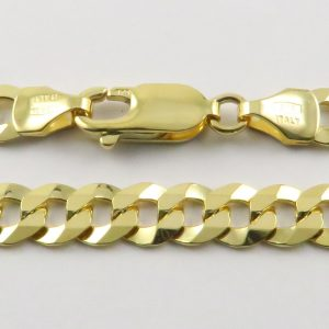 9ct Yellow Gold Curb Chains 140 Gauge - 5.9mm Wide