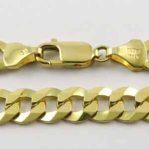 9ct Yellow Gold Curb Chains 180 Gauge - 7.56mm Wide
